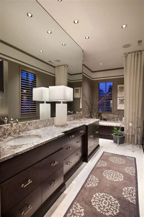 chic bathroom  tan walls paired gray subway tile backsplash ideas