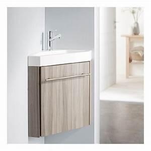 lave main d angle avec meuble pas cher With wc suspendu couleur gris 11 salle de bain complate achat vente salle de bain