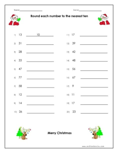 rounding worksheet worksheet