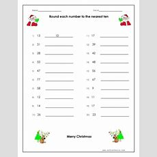 Christmas Rounding Worksheet Worksheet