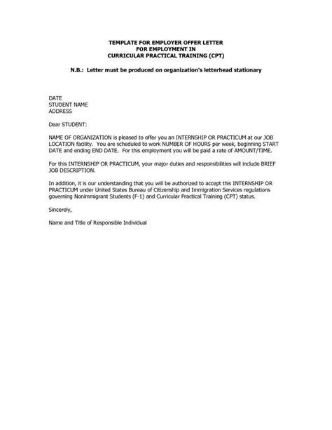 Unpaid Internship Offer Letter Sample Inspirational Unpaid Internship Fer Letter India From Pany