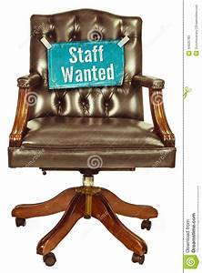 Retro Office Chair With Staff Wanted Sign Isolated On
