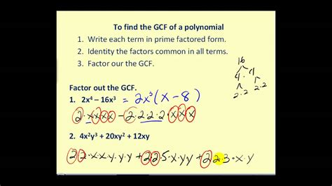 Factoring Out The Greatest Common Factor Youtube