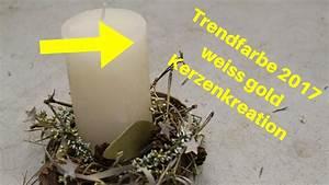 Trendfarbe Weihnachten 2017 : trendfarbe weihnachten 2017 weiss gold dekoidee mit kerze youtube ~ A.2002-acura-tl-radio.info Haus und Dekorationen
