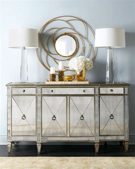 mirrored sideboard buffet buffets and cabinets 4164
