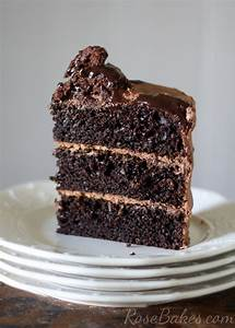 One Bowl Chocolate Cake (from scratch) - Rose Bakes
