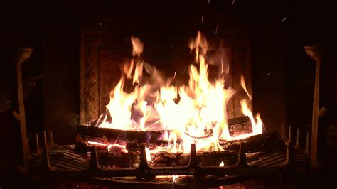 crackling fireplace  thunder rain  howling wind