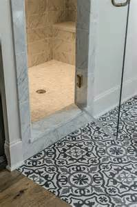 black and white mediterranean mosaic bathroom floor tiles
