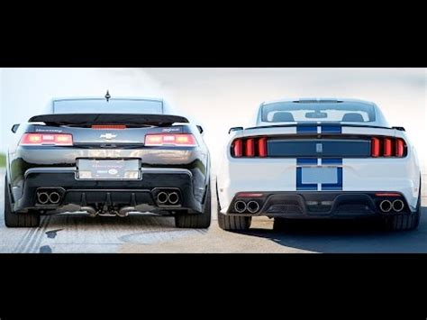 Gt350 Vs Camaro by 2015 Shelby Gt350 Vs 2014 Camaro Z28 Dyno Comparison