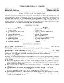 corporate counsel resume william franzblau esquire senior counsel resume 2015