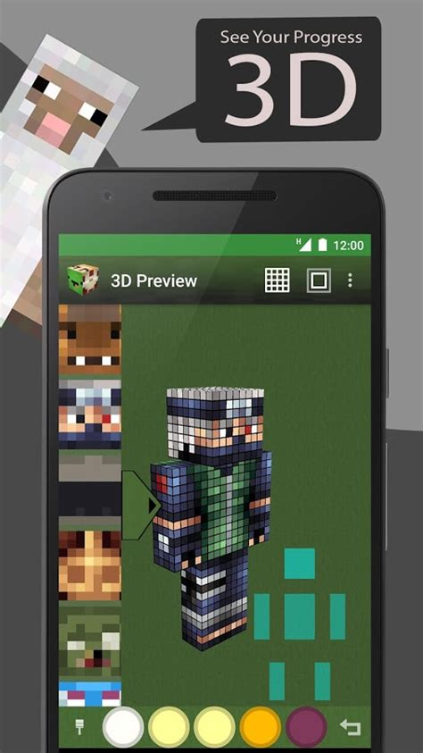 skin editor tool  minecraft apk  android apps