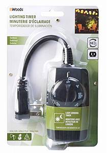 woods 2001 outdoor outlet timer with photocell light With outdoor light timer reset