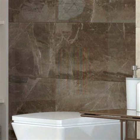 gio brown gloss marble effect wall tiles   cm