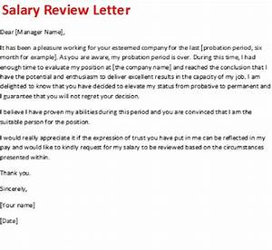 salary review letter With sample salary review letter template