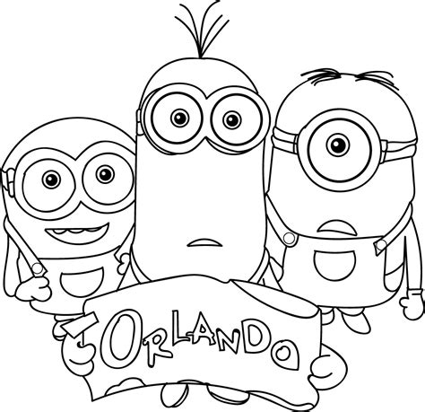 Kevin Minion Coloring Pages Color Bros