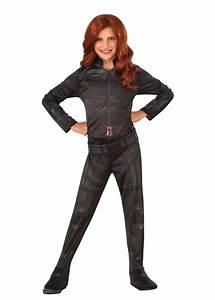 Civil War Black Widow Girls Costume - Superhero Costumes