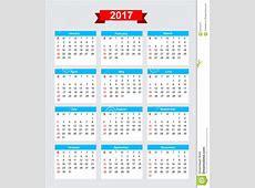 Inizio Domenica Di Settimana Di Calendario 2017