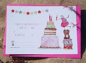 Invitation Anniversaire Fille 9 Ans : carte d 39 invitation anniversaire fille 12 ans gratuit ~ Melissatoandfro.com Idées de Décoration