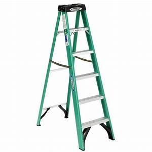 Werner 6 ft Fiberglass Step Ladder with 225 lb Load