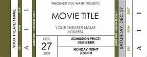movie ticket template beepmunk With fake movie ticket template