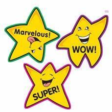 Teacher Stickers   100 Fun Shape Gold Star Reward School ...