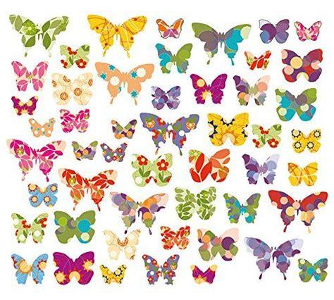 Fliesenaufkleber Schmetterling by 50 X Schmetterlinge Wandsticker Fenstersticker