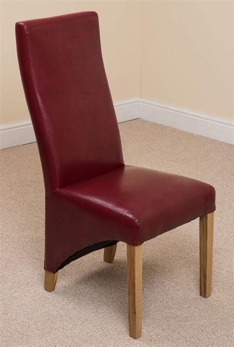lola dining chair burgundy leather i dining room chairs