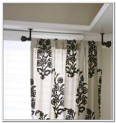 how to hang curtain rods from the ceiling eyelet curtain