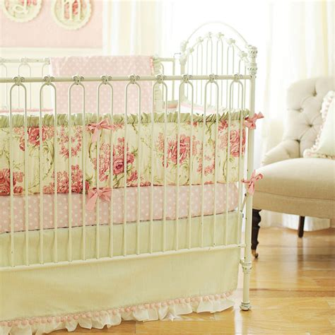 shabby chic baby cribs floral baby bedding baby girl bedding linen crib bedding vintage crib bedding