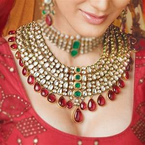 amazing indian bridal jewelry kundan set indo western With bijoux indiens