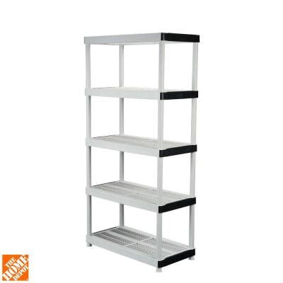 hdx 5 shelf 36 in w x 72 in h x 18 in d plastic