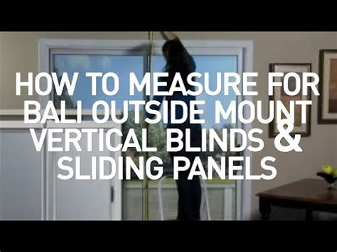 how to measure for blinds how to measure for bali outside mount vertical blinds and