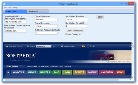 cpanel email creator