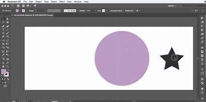 Objects Illustrator Divide Cutting Adobe Below Cut
