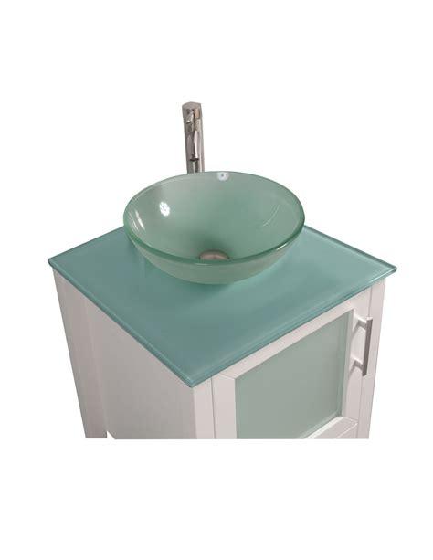 Acuba 24 Inch Single Sink Modern Bathroom Vanity Set White