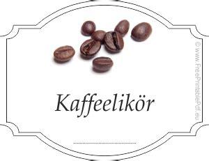 etiketten fuer kaffeelikoer  drucken kostenlos