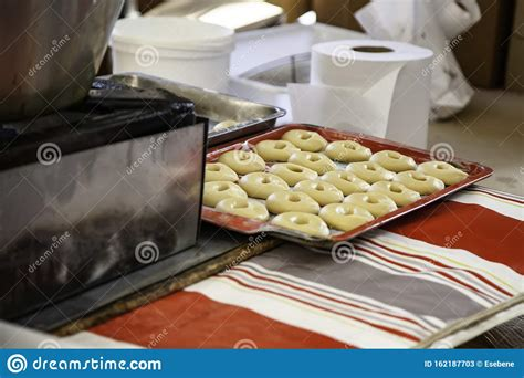 donuts frying oil dessert