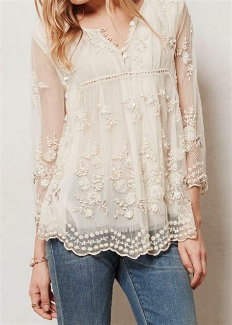beaded blouse white lace beaded top for 39 s closet treats