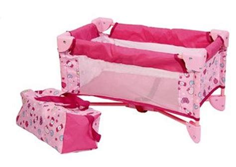 25924 baby doll bed baby doll bed playpen furniture playset for dolls ebay