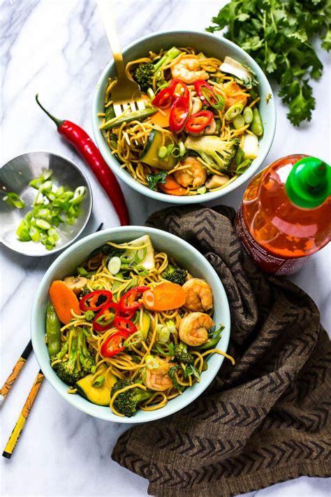 shrimp yakisoba noodle bowls  girl  bloor