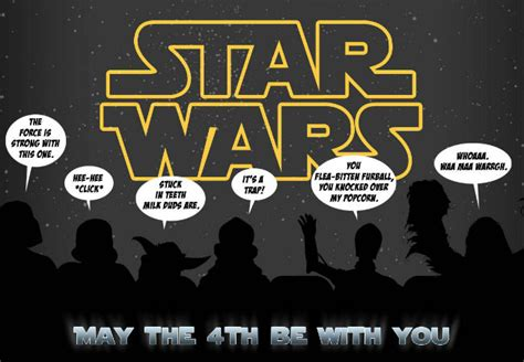 Happy Star Wars Day! May the 4th be with you ...