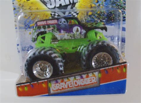grave digger monster truck fabric wheels monster jam holiday edition grave digger truck