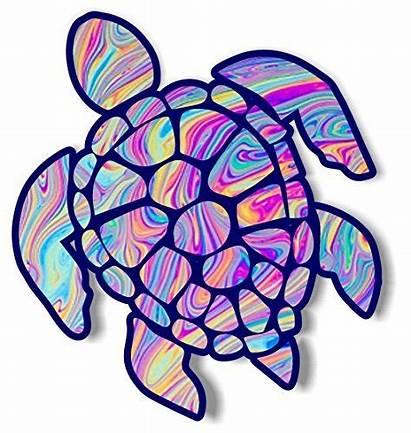 Turtle Sea Vinyl Sticker Dye Tye Graphics