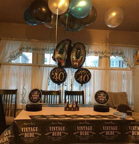 40th Birthday Decoration Ideas for Him