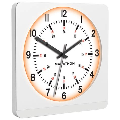 marathon auto light jumbo analog wall clock