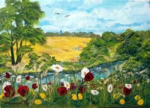 Bilder Bäume Gemalt : im gras liegen u tr umen baum blumen himmel malerei von marzinkowski bei kunstnet ~ Orissabook.com Haus und Dekorationen