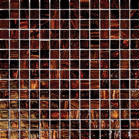ms international brown 3 4 x 3 4 glass mosaic tile