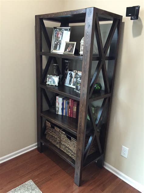 rustic  tall bookshelf rustic bookshelf home decor