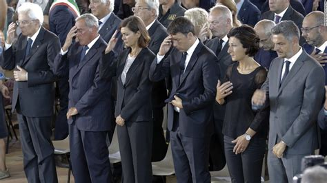 State Funeral Held For Italy Earthquake Victims