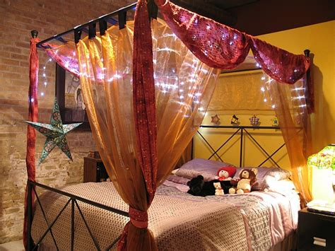 canap駸 lits bed canopy with lights for one of a bedroom homestylediary com